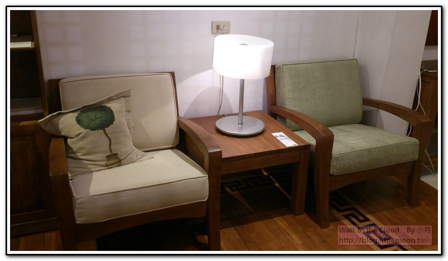 單人小沙發與小茶几
