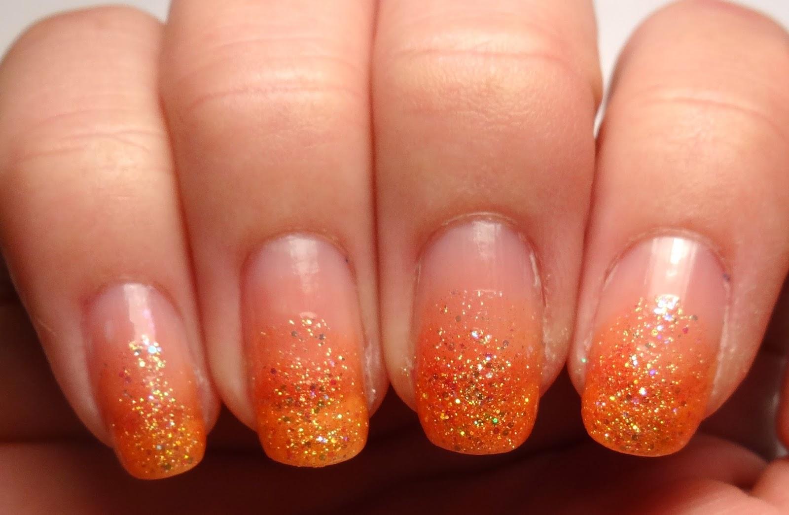 Orange Glitter Gradient