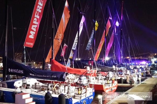 ALICANTE -  De paseo nocturno por la Volvo Ocean Race - Vídeo