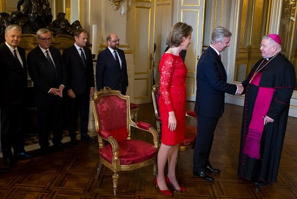 The Belgian Royal Family At Their New Year 2016 Reception