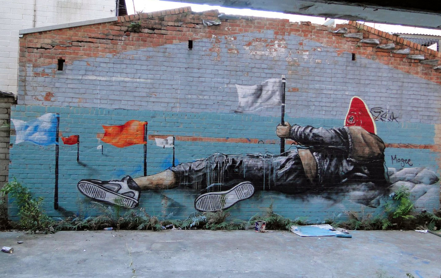 Fintan magee new murals in brisbane australia for Australian mural