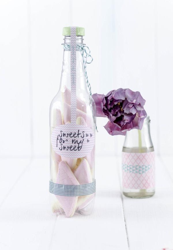 Selbstgemachte Geschenkverpackung zum Valentinstag als Upcyclingprojekt