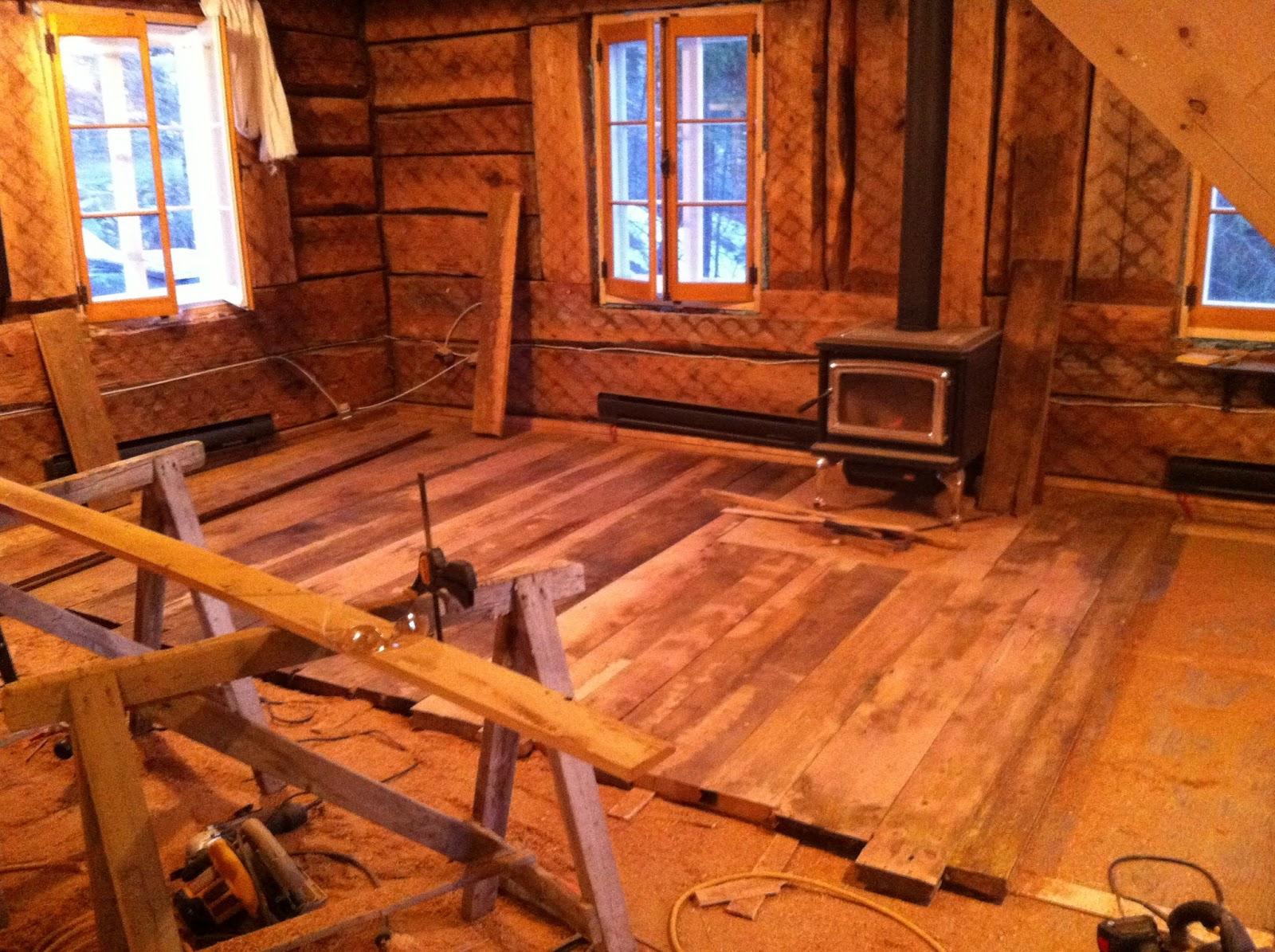 La qu b coise en montagne for Peinture plancher bois