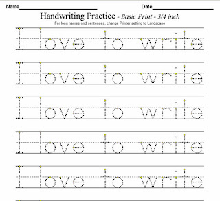 Worksheets Handwriting