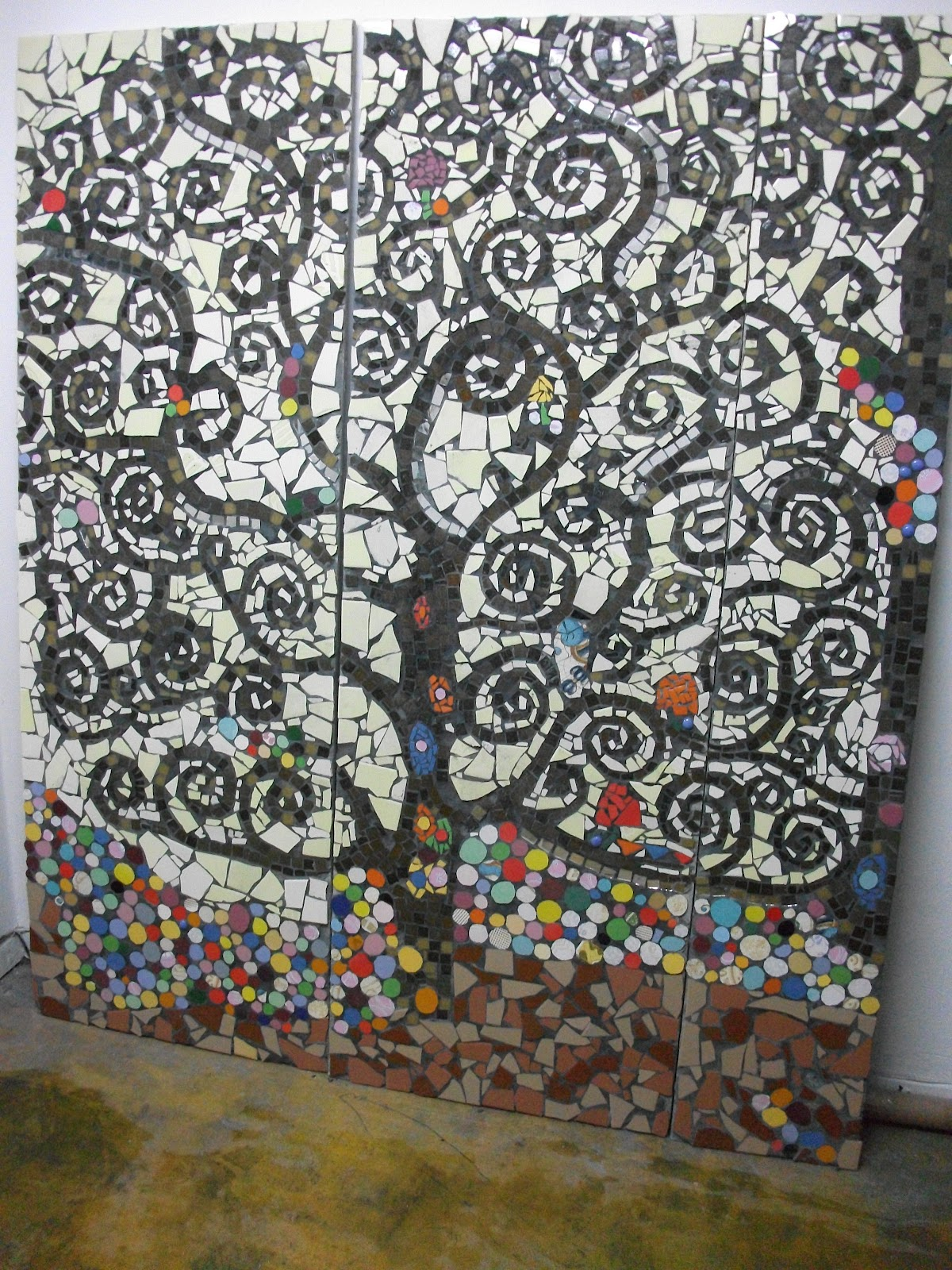 Gwendydecoraci n mosaiquismo klimt for El mural de mosaicos