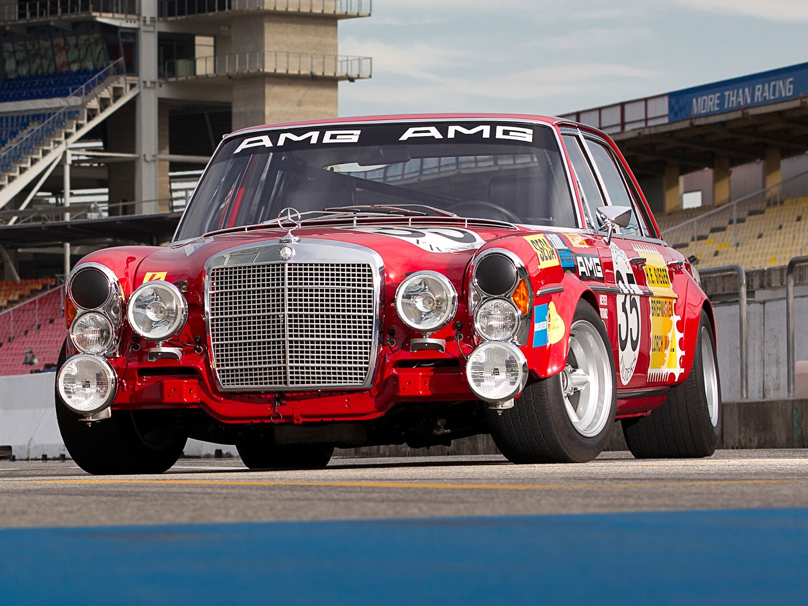 fab wheels digest f w d 1971 mercedes benz amg 300sel 6 3 race car w109 the red pig. Black Bedroom Furniture Sets. Home Design Ideas