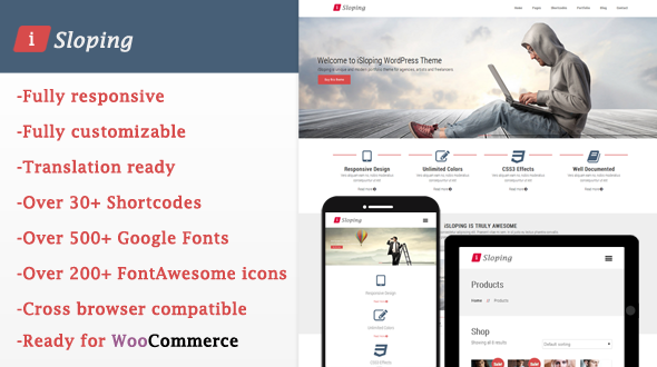 download iSloping - Mojothemes Responsive Multipurpose WP Theme