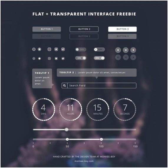 Flat + Transparent UI