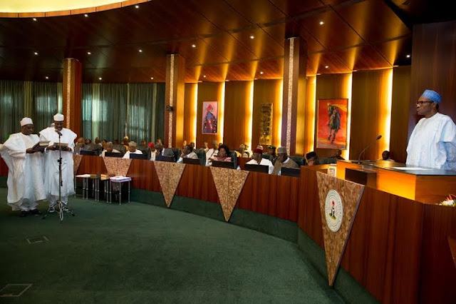 Buhari Swears In New Permanent Secretaries