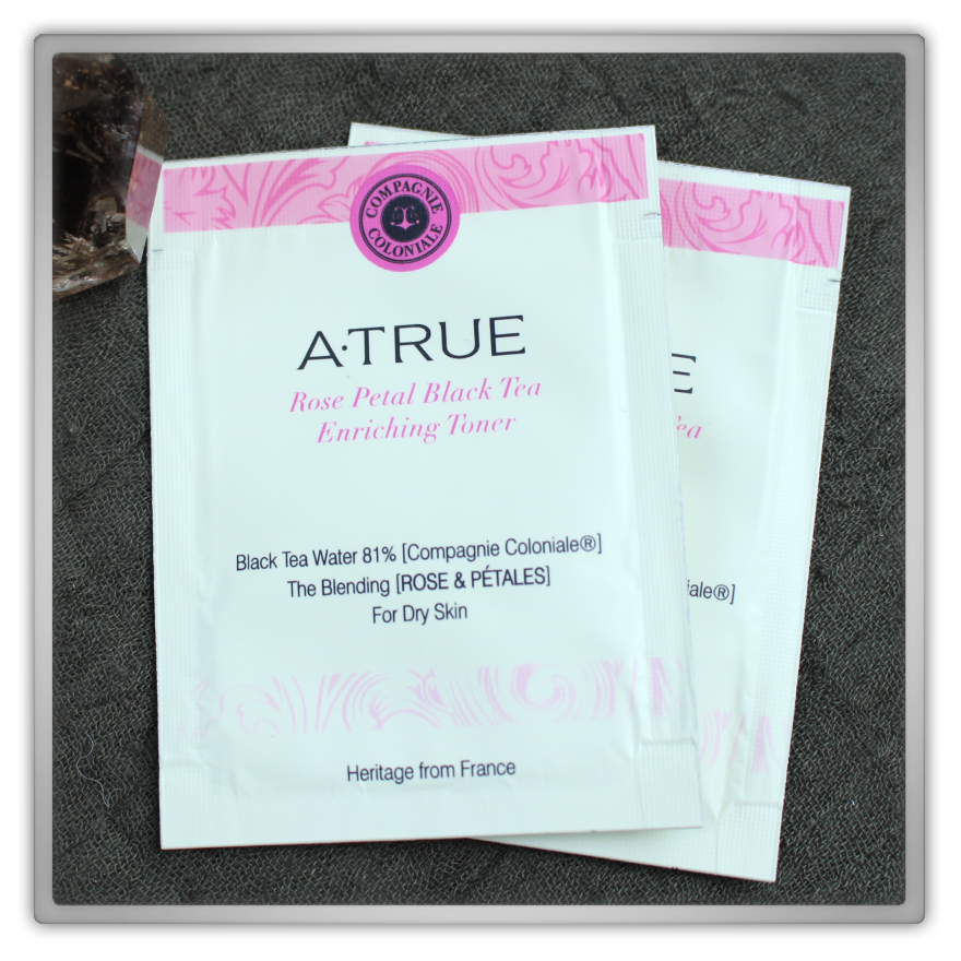 A·TRUE (에이트루) Korean Cosmetics Haul & Review Rose Petal Black Tea Enriching Toner