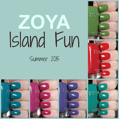 zoya island fun collection review swatches