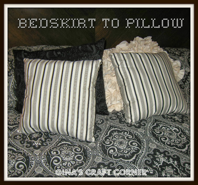 Bedskirt to pillows