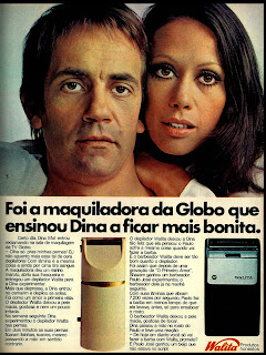 Propaganda barbeador e depilador Walita com Paulo José e Dina Sfat - 1972