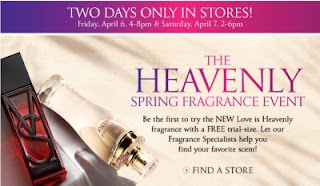 Free Love Is Heavenly Fragrance trial-size Sample at Victoria's Secret ~ 4/6 & 4/7