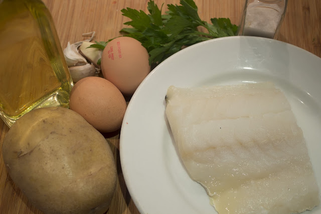 Ingredientes Bacalao a brass