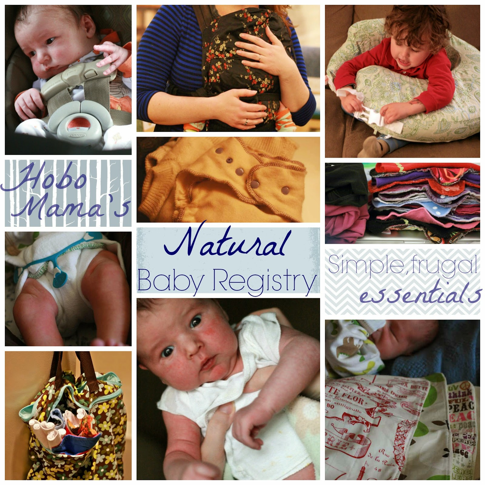 Natural Parent's Baby Shower Registry Gift Guide: The simple essentials for breastfeeding, babywearing, cosleeping, & cloth diapering! -- Hobo Mama