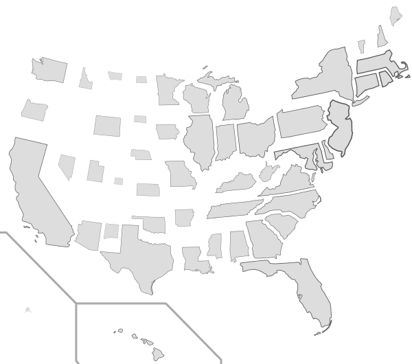 Map of the 50 states scaled proportional to population density