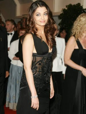 Aishwarya looking great in black gown attending cannes film festival