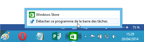 capture d'écran Windows 8 - Windows Store