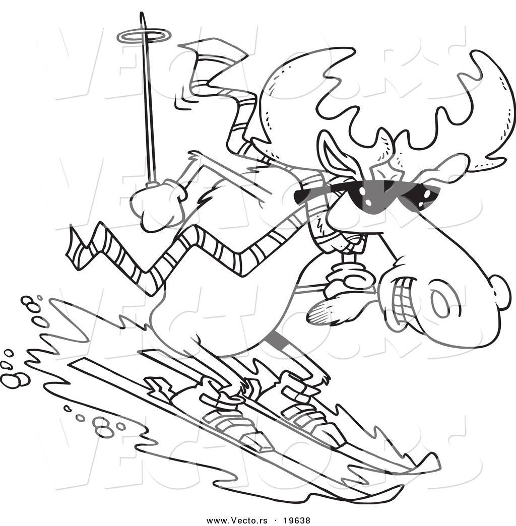 downhill skiing coloring pages - photo#22