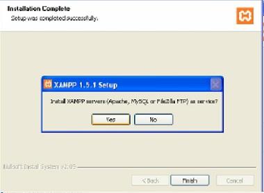 Install Apache,MySQL dan FTP Services