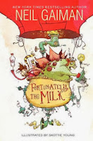 fortunately the milk by neil gaiman book cover
