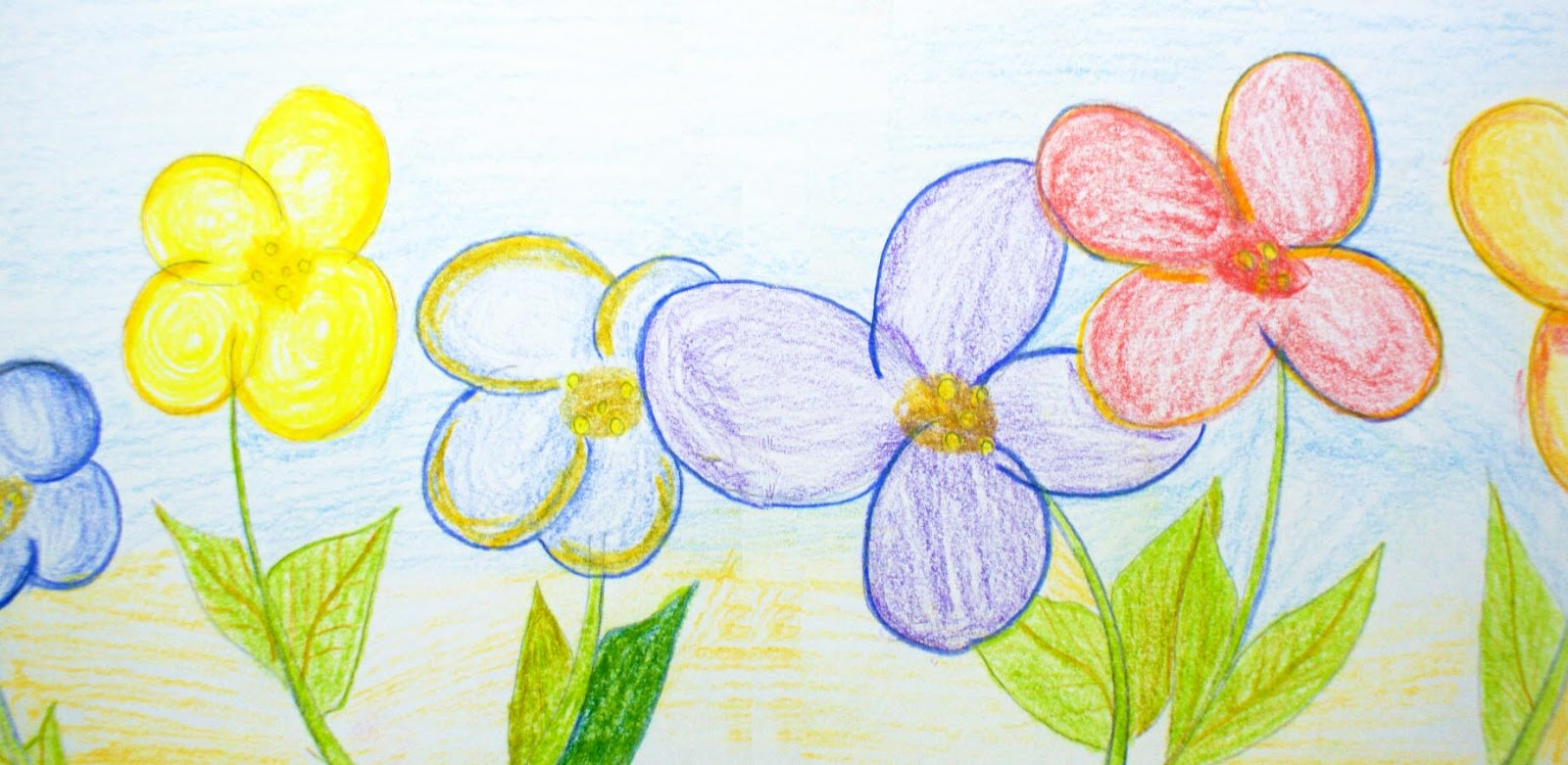 Flower Drawings With Color Easy Simple