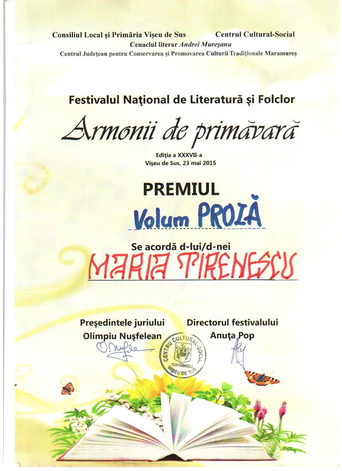diploma Armonii de primavara