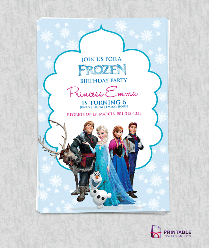 Amazing image with free printable frozen invitations