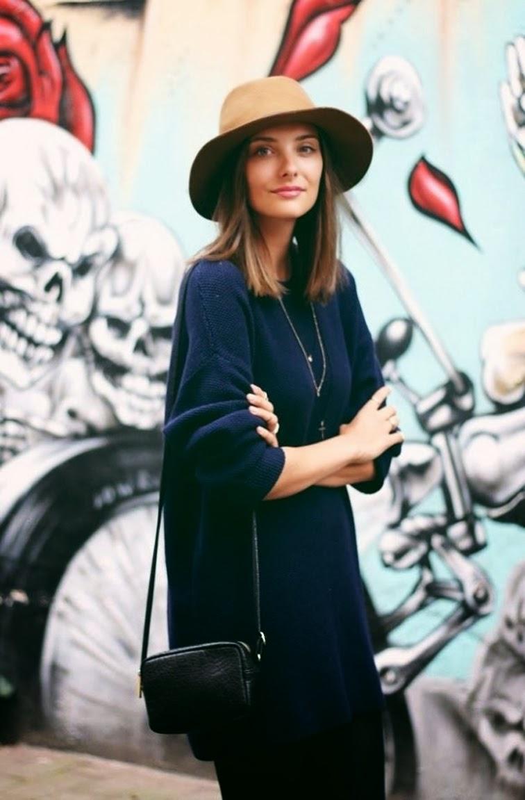 Andreea Diaconu model off duty street style