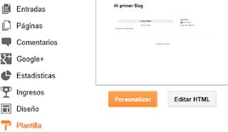 personalizar plantilla blogger