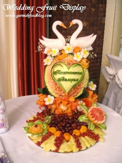 watermelon carving wedding