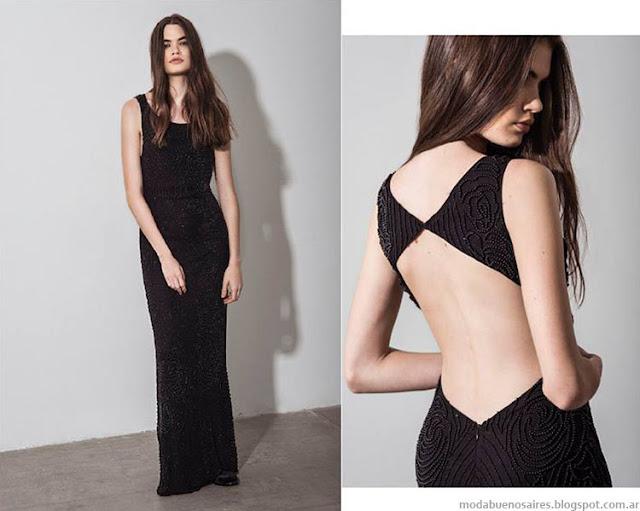 Florian Dresses invierno 2015 moda mujer vestidos de fiesta.
