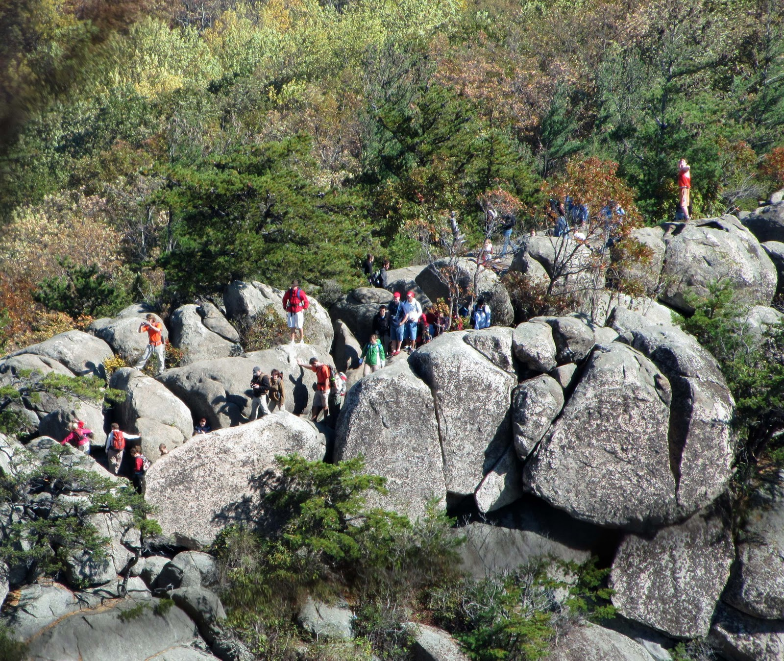Old Rag Mountain Hikes/Patrols By RSL: October 2011