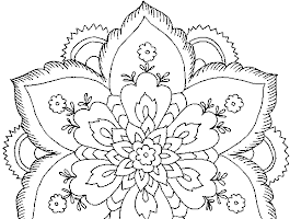 Zentangle Coloring Page Flowers