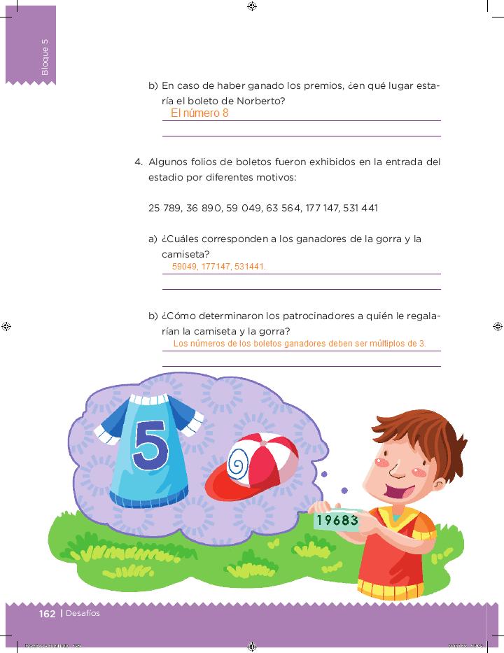 Respuestas ¿Cúal es el patrón? - Desafíos matemáticos 5to Bloque 5 2014-2015