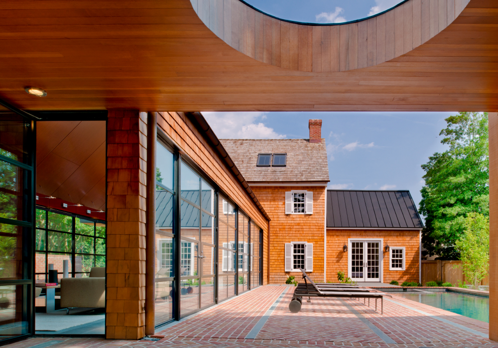 Captivating Looking From The Breezeway Along The Living Pavilion Toward The Historic  Dwelling. Photo: Maxwell MacKenzie Idea