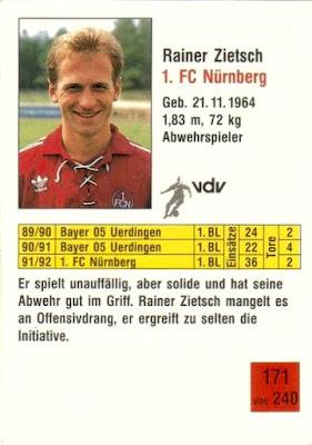 FC Nürnberg BL 92//93 Borussia Dortmund 1