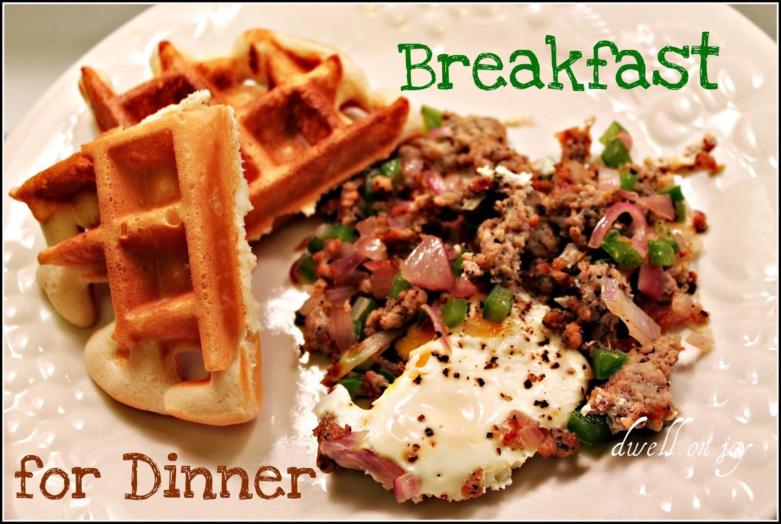 Breakfast For Dinner Breakfast For Dinner Waffles