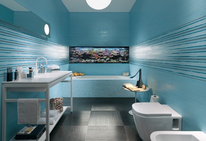 Decorar Un Baño Azul:continuación fotos de decoración de baños color azul, baños
