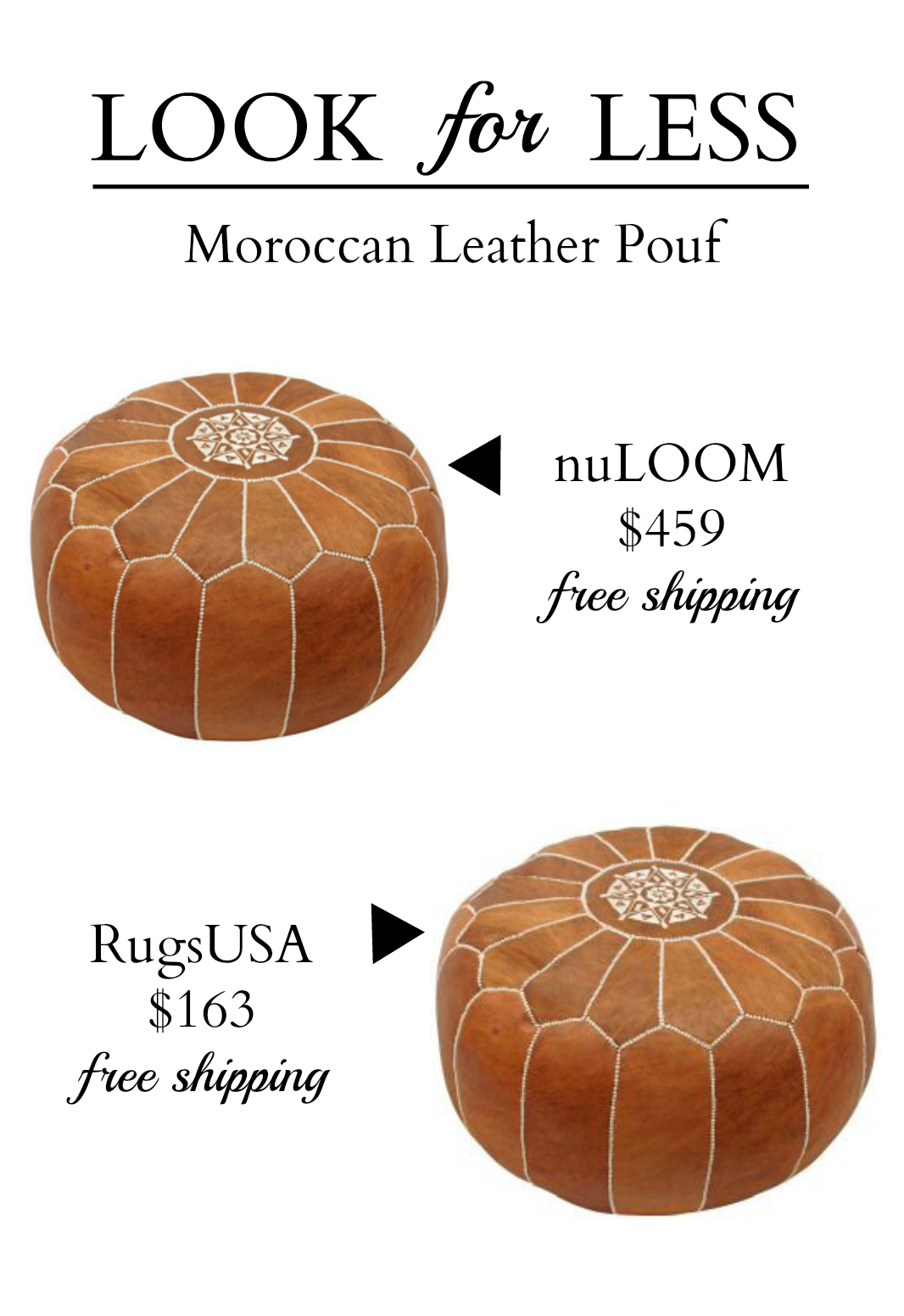 Moroccan Leather Pouf for Less