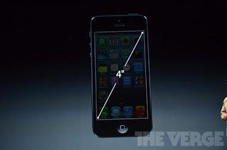 صورة توضح حجم شاشة آيفون 5