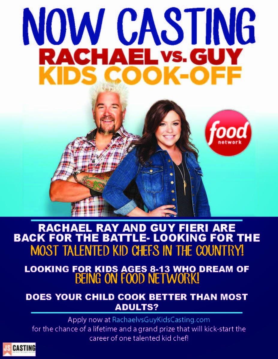 now casting rachael vs guy kids cook-off