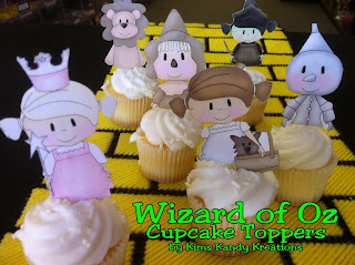 Wizard of Oz Cupcake Toppers by Kims Kandy Kreations