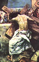 Via Dolorosa, the stations of the Cross, Jesus carrying the cross
