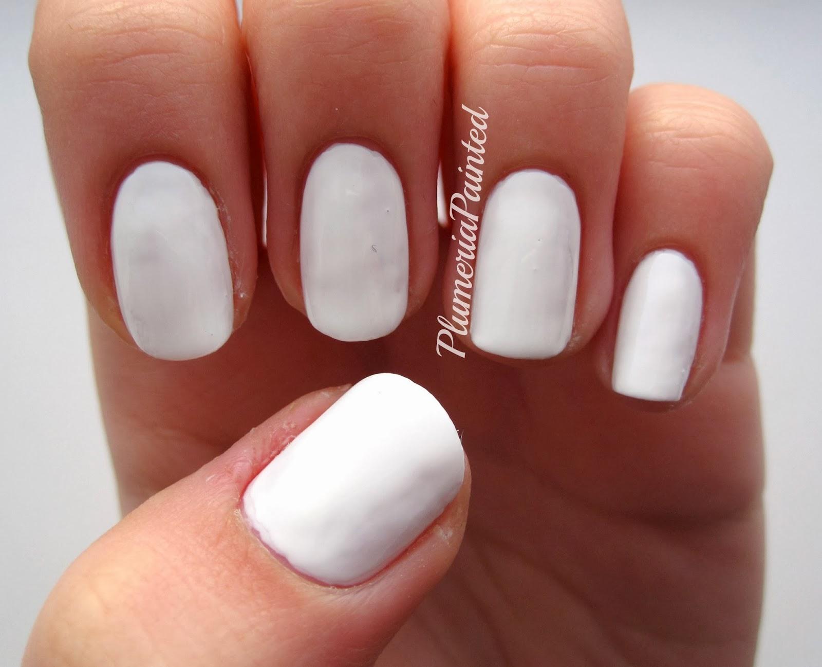 PlumeriaPainted: White Nails: Barry M - Matt White