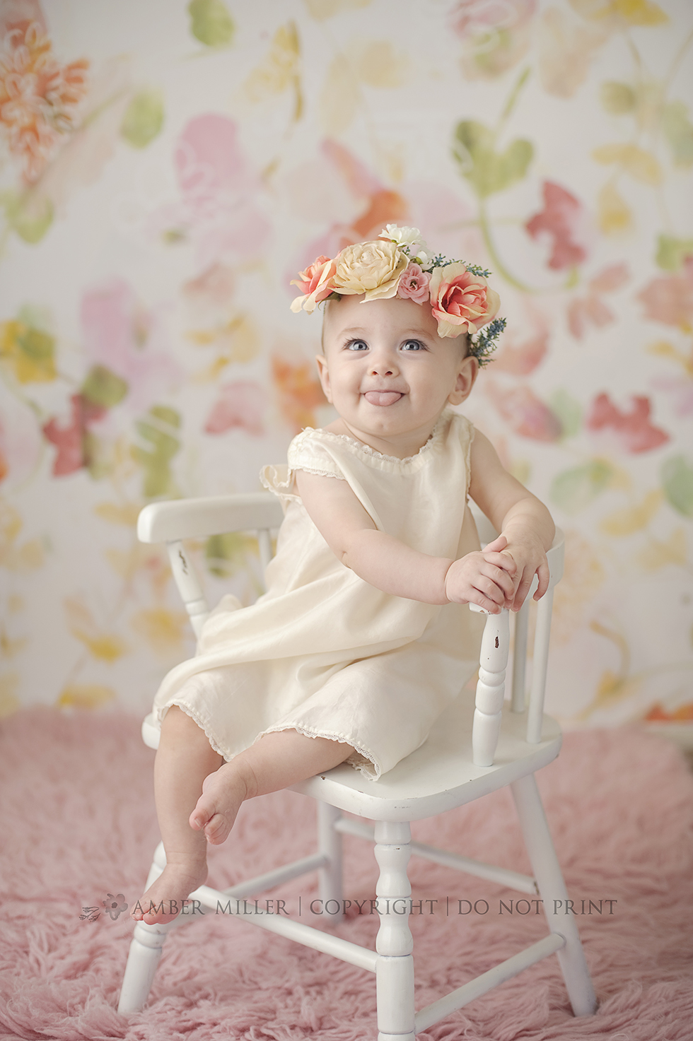 utah infant floral crown photography