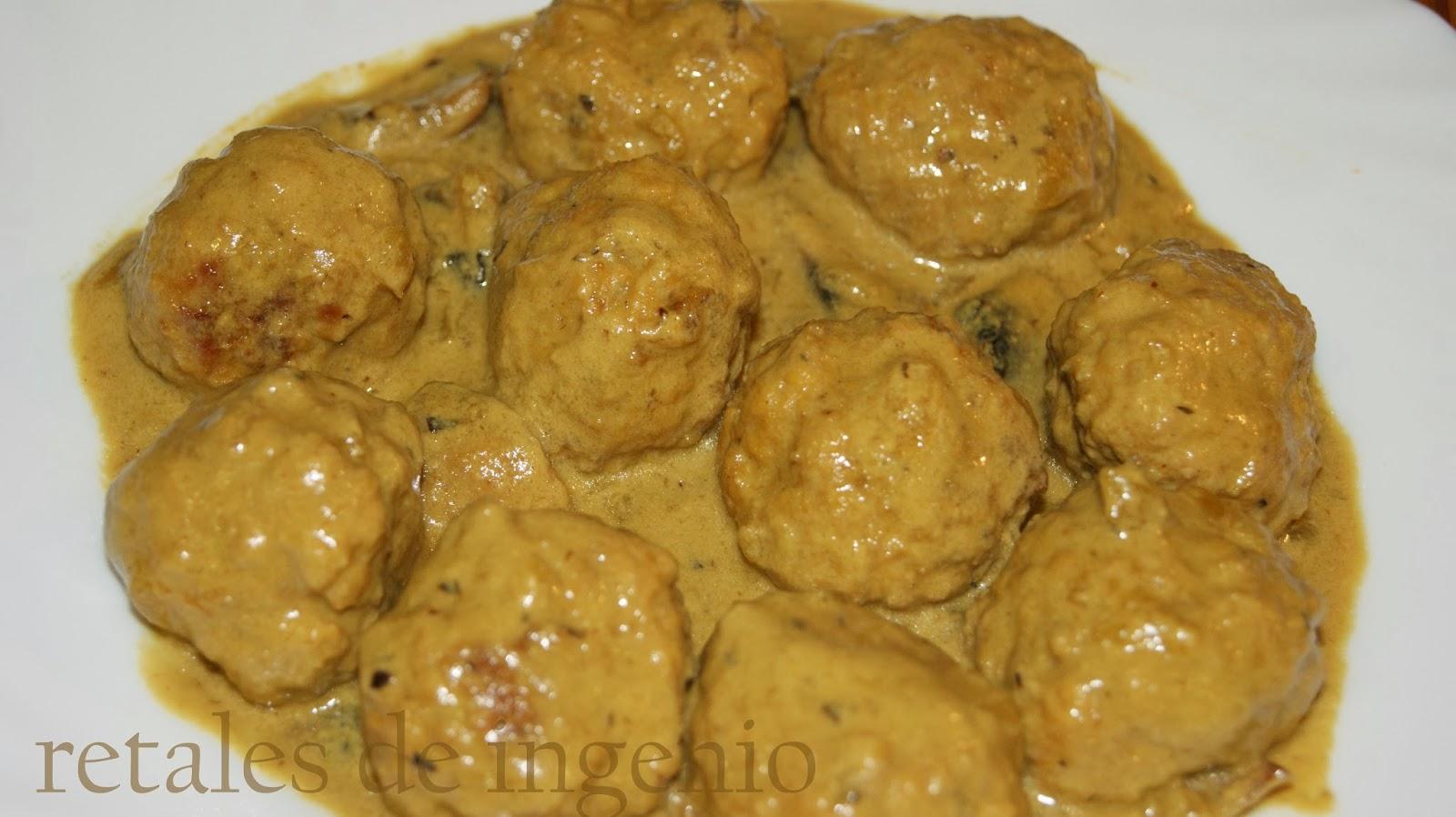Retales de ingenio recetas y diet tica alb ndigas en salsa de mostaza - Albondigas tradicionales ...