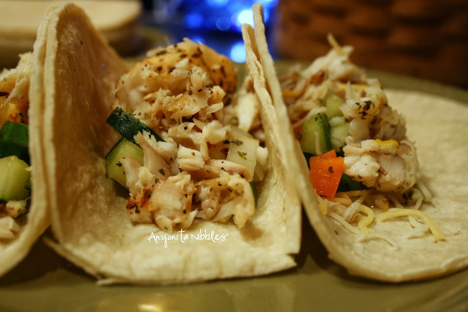 Quick weeknight dinner: grilled fish tacos from www.anyonita-nibbles.com