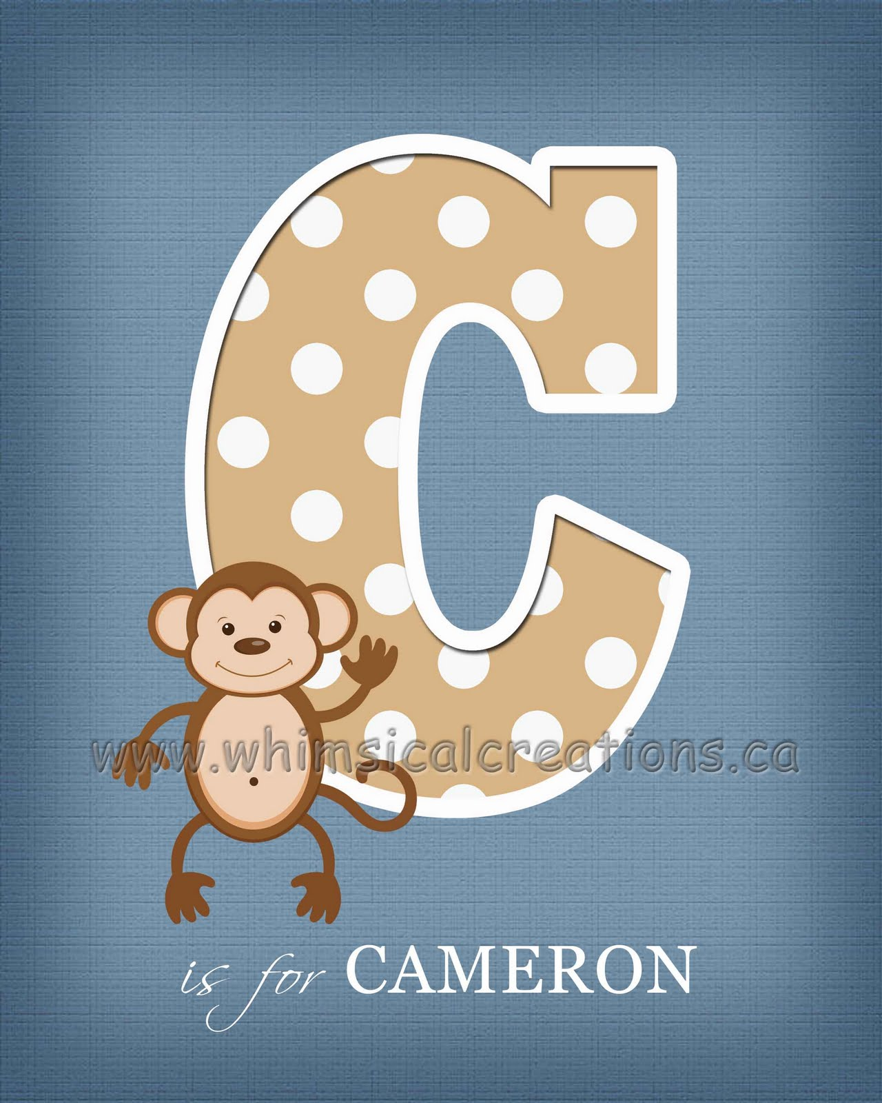 WhimsicalCreations.ca: Letter Wall Art / Letter Name Art For Nursery Or Kids  Bedroom